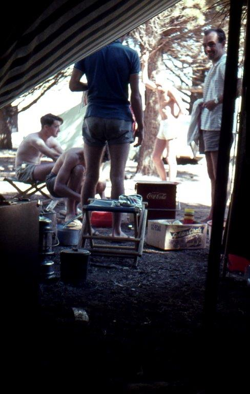 Camping at Second Valley in the 1960s: the set-up