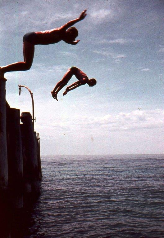 Jetty Jumping at Second Valley in the 1960s.